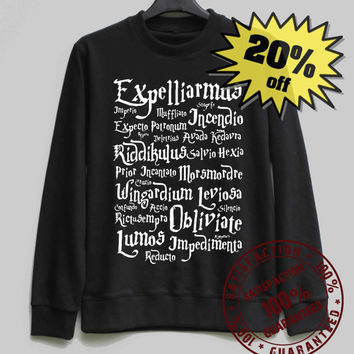 Harry Potter Spell Shirt Harry Potter Sweatshirt Sweater Shirt – Size XS S M L XL