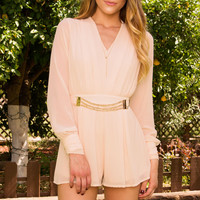 Olivia Jones Romper - Blush
