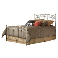 Full size Metal Bed with Gentle Arch Headboard and Footboard