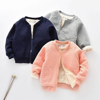 Spring Autumn boys girls baby clothes cashmere jacket outerwear for toddler boys girl baby clothing sports baseball jacket coats