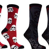 Star Wars Kylo Ren First Order Stormtrooper Mens Casual Crew Sock Set Pack of 2