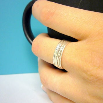 Sterling silver stacking rings set of 6 Sterling by WatchMeWorld