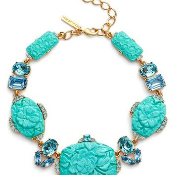 Oscar de la Renta Carved Resin Statement Necklace | Nordstrom
