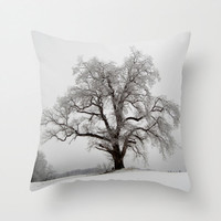 Tree Pillow, Snow Pillow, Black and White Pillow Cover, Winter Decor, Frozen Pillowcase, Winter Wonderland, Nature Home Decor 16X16 18X18