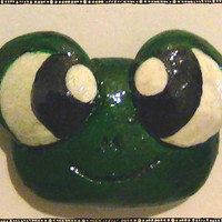 Cute Frog Head Polymer Magnet