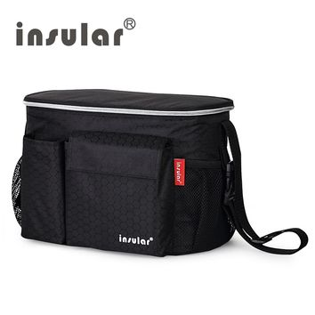 Insular Thermal Insulation Baby Diaper Bags Waterproof Nappy Changing Bag Mommy Stroller Bag Cooler Bag