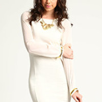 Chiffon Knit Sheath Dress