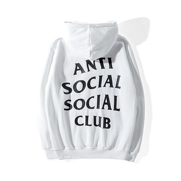 ANTI SOCIAL SOCIAL CLUB ASSC Classic Print Men's and Women's Long Sleeve and Fleece Hoodie White