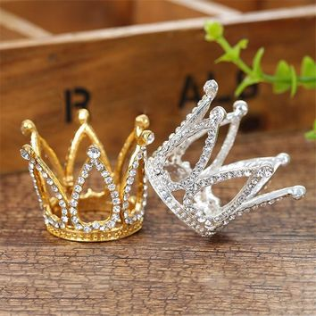 children's queen king little tiara crown stage show headdress birthday mini tiaras and crowns for kids hair accessories