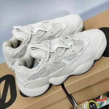 Adidas Yeezy Boost 500 Desert Rat Fashion New Couple Leisure Sport Sneakers Shoes Yellow
