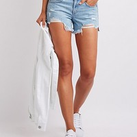 Refuge Destroyed Girlfriend Shorts | Charlotte Russe