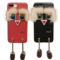 DCCK Fendi Little monster robot phone case shell  for iphone 6/6s,iphone 6p/6splus,iphone 7/8,iphone 7p/8plus, iphonex