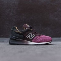 QIYIF new balance m997 burgundy brown black