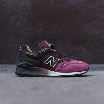 DCCK1IN new balance m997 burgundy brown black
