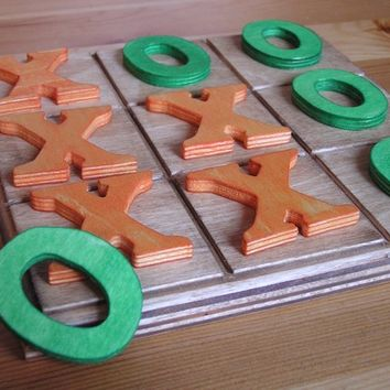Eco- Friendly-Game- Kids- Wood-Wooden -Waldorf- Kids -Toy-Wooden Tic Tac Toe Set