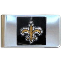 NFL New Orleans Saints Steel Money Clip