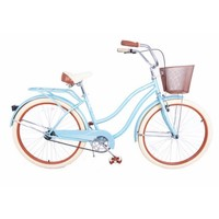 "Royal London Retro 18"" Ladies Cruiser Bike with Basket - Walmart.com"