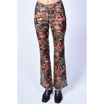 Deadstock Jessica Rose Print Flare Pants