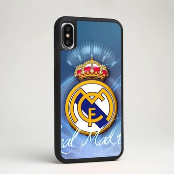 Real Madrid CF Football Club Soccer Team TPU Silicone Case Cover for iPhone