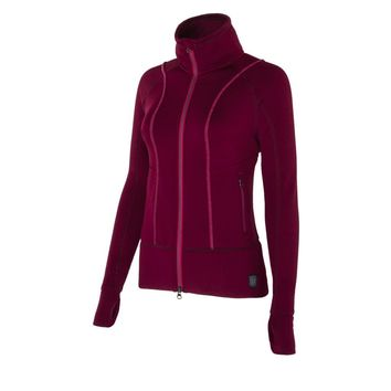 Noble Outfitters Ladies Explorer Fleece Jacket - Cranberry