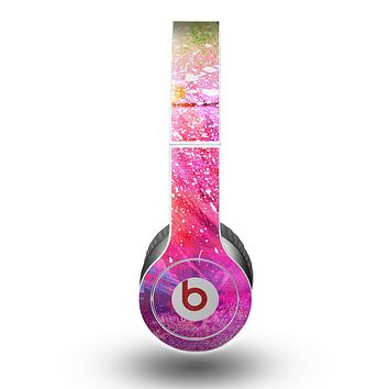 The Abstract Neon Paint Explosion Skin for the Beats by Dre Original Solo-Solo HD Headphones