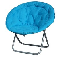 Cheap & Stylish College Dorm Room Seating Options - Comfort Padded Moon Chair - Aqua