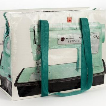 Sewing Machine Shoulder Tote