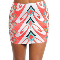 Aztec Print Mini Skirt  Bandage Style by SouthernTexasPrep on Etsy