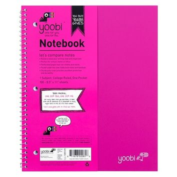 Yoobi™ Spiral Notebook 1 Subject College Ruled