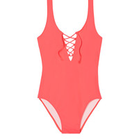 Lace-Up Front One-Piece - Victoria's Secret