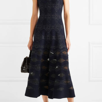 Alaïa - Lurex jacquard midi dress