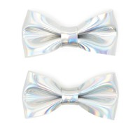 Iridescent Mini Bow Clip Set