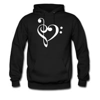 Treble Bass Heart - I love music hoodie sweatshirt tshirt