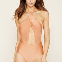 Crisscross Halter One-Piece