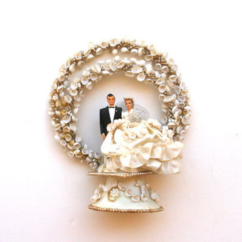 1950s Vintage Wedding Cake Topper