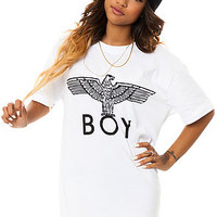 The Boy Eagle Tee in White