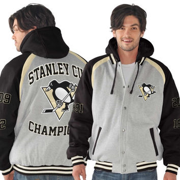 Pittsburgh Penguins Rookie of the Year Stanley Cup Champions Commemorative Jacket - Ash/Black