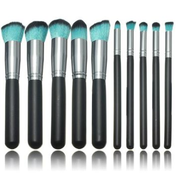 Amazon.com: KINGSO Professional 10PCS Makeup Brushes Eyeshadow Foundation Powder Blush Cosme...