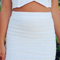 This Is It Skirt: White