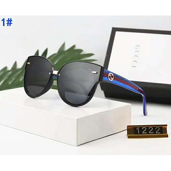 GUCCI Newest Hot Sale Women Men Summer Sun Shades Eyeglasses Glasses Sunglasses 1#