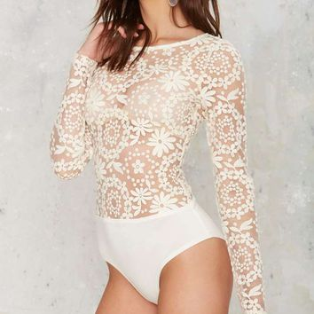 Dawn of a New Daisy Lace Bodysuit