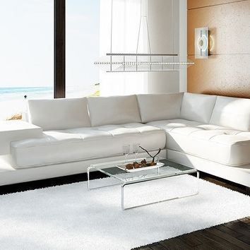 Lena Leather Sectional by Scene Furniture - Opulentitems.com