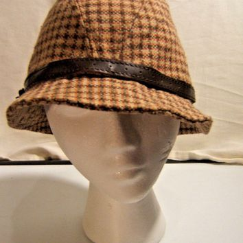 Christy's Crown Series One size Womens Brown Plaid Bucket Hat