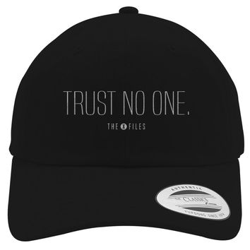 Trust No One The X Files Embroidered Cotton Twill Hat