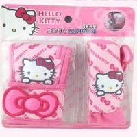Hello Kitty Sanrio Car Shift & Hand Brake Cover (Butterfly Pattern)
