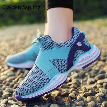 Golden Sapling Womens Tennis Shoes Athletic Sneakers for Women Breathable Mesh Fabric Women's Sneakers Fitness Woman Sport Shoes