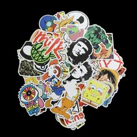 100Pcs / Lot Style C Pvc Waterproof Cartoon Style Funny Stickers For Laptop Motorcycle Skateboard Luggage Decal Toy Sticker