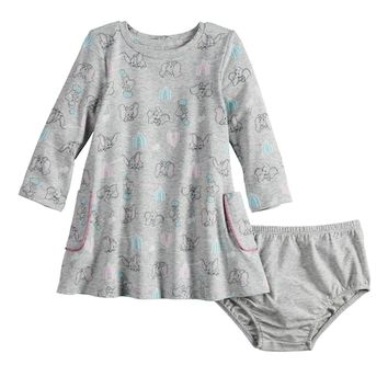 Disney's Dumbo Baby Girl Long-Sleeve Pocket Dress by Jumping Beans®