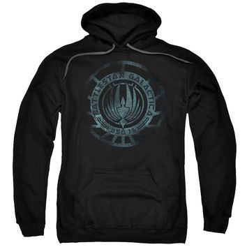 Battlestar Galactica (New) - Faded Emblem Adult Pull Over Hoodie Officially Licensed Apparel