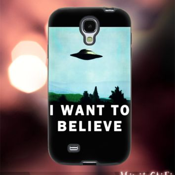 MC1002Z,1,1,i want to believe,x file,ufo,fly,space-Accessories case cellphone-Design for Samsung Galaxy S5-Black case -Material Soft Rubber